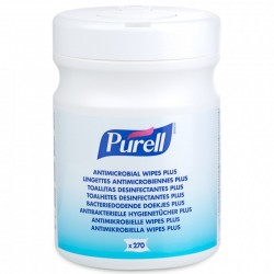 Purell Antimicrobial Wipes Plus, 270 stk. i beholder.