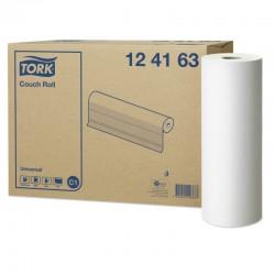 **OUTLET** Tork universal lejepapir, hvid, 1 lag, 185 m. pr. rulle, 49,50 cm bred, perforeret