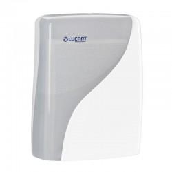 Dispenser, Lucart Professional, til alle typer håndklædeark, hvid, inklusive papir