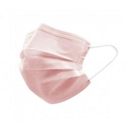 Mundbind 3-lags type IIR, med øreelastikker, 50 stk., lyserød