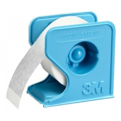 Micropore tape til fiksering. Hvid med dispenser, 2,5 cm x 9,1 m.