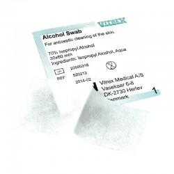 Injektionsserviet Vitrex, 70% isopropyl alkohol, 3x6 cm, 100 stk.