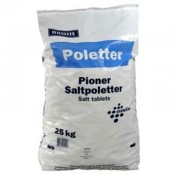 Brøste saltpoletter til blødgøringsanlæg til opvaskemaskiner 25 kg