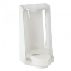 Sterisol dispenser med kappe, hvid med trykplade, 0,7 l.