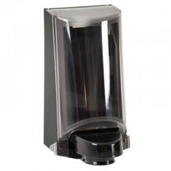 Sterisol dispenser med kappe, sort med trykplade, inklusive 2 refills á 0,7 l.