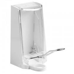 Sterisol dispenser med kappe, 0,7 l., metalarm.