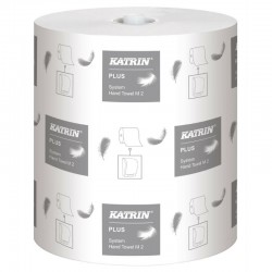 Håndklæderulle Katrin Plus System M2, 2-lag, 140 m, 6 ruller