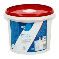 PAL TX BLÅ desinfektionswipes med ethanol, 1000 stk. i dispenserspand