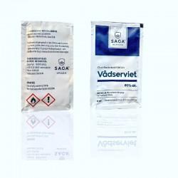 Saga desinfektionsservietter, 6 ml, 10 stk.