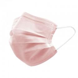 Mundbind 4-lags type II, med øreelastikker, 10 stk., lyserød