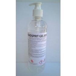 Håndsprit 85% i pumpeflaske, gel, MedicoPart, 500 ml